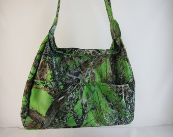 Lime green CAMO Concealed Carry Purse Small
