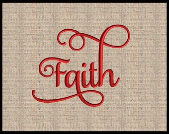 Word Faith Machine Embroidery Design Word Christian Embroidery Design State Embroidery Design