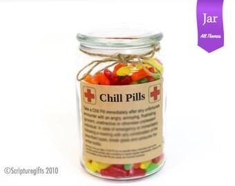 Funniest Chill Pill Jar VARIOUS THEMES