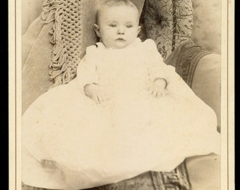 Antique Cabinet Card Photograph of an Infant - Unidentified - Pennsylvania