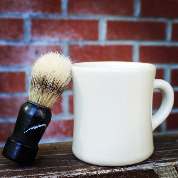Limited addition shave soap in vintage Victor mug with shave brush