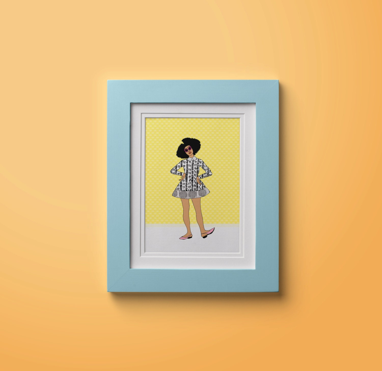 Oyin Art Print Black Girl Magic Black Girl Fashion