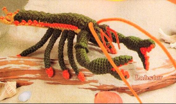 Vintage Crochet Lobster Pattern Pdf Instant Digital Download