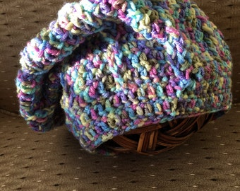 Soft and warm slouch hat or scarf