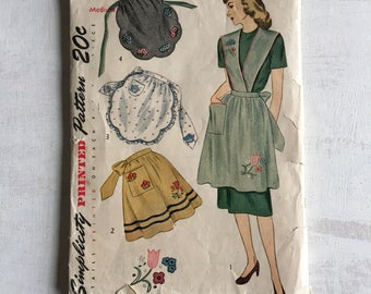 Very Old Apron Sewing Pattern