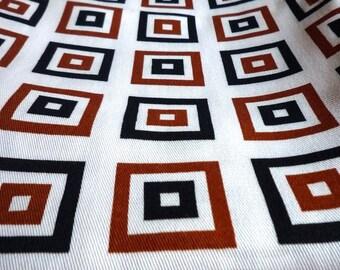Vintage 1960's Mod cotton drill dense thread count 1 m x 90 cm fabulous
