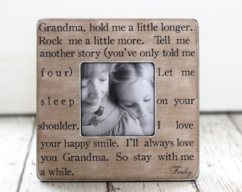 Mother's Day Gift for Grandma Grandmother from Grandchild Grandchildren Personalized Gift Picture Frame Quote for Grandma
