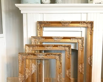 Large Open Frame, Gold Frame, Large Photo Frame, Picture Frame, Nursery Decor, Wedding Decor, Large Wall Hanging, Large Gold Frame