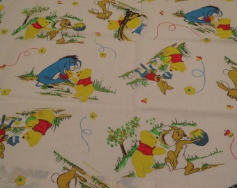 6 piece Vintage Winnie the Pooh curtain set -includes 4 curtains and 2 valances