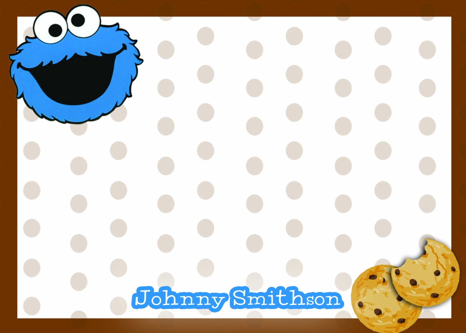 Cookie monster thank you notes sesame street thank you