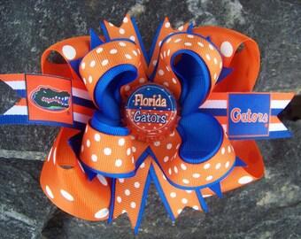 Florida Gators Inspired Bottlecap Hairbow