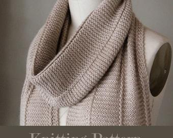 knitting pattern, knit pattern, scarf pattern, knit scarf pattern, brioche scarf, City Life Scarf, instant download pdf DIY instructions