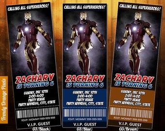 Ironman birthday party invitation avengers party invitation ironman invitation ironman birthday invite printable file personalized for iron man birthday party filmwisefo