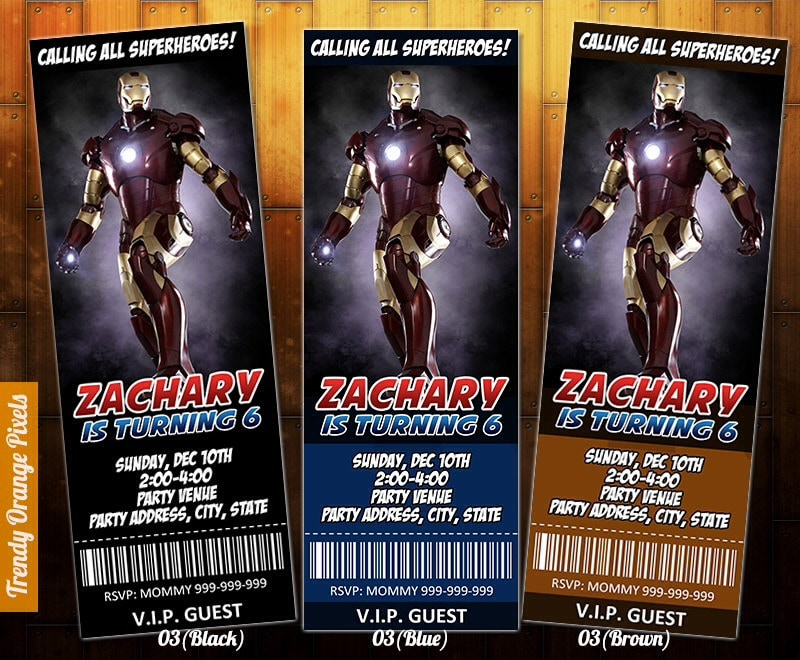 IronMan invitation Ironman birthday invite printable file