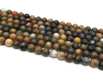 1Full Strand 8mm Petrified Wood Round Beads,Wholesale Petrified Wood Gemstone For Jewelry Making