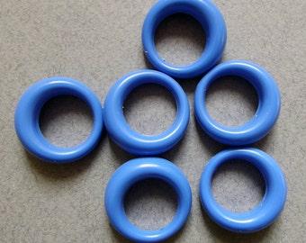 Vintage blue lucite hoop charms