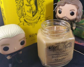 Butterale Magic - Harry Potter Inspired Bookish Soy Candle - Butterbeer | Book candle | literary candle | Book gifts | all natural soy