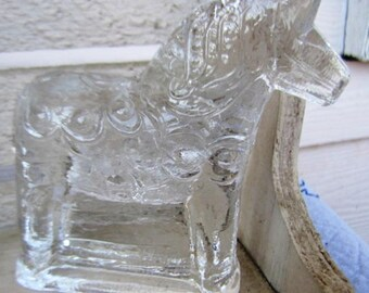 Vintage Swedish Dala Crystal  Horse
