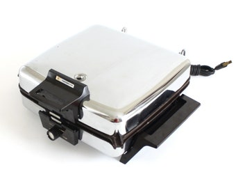 Toastmaster Waffle Iron 269 Sandwich Grill Chrome Nonstick Used