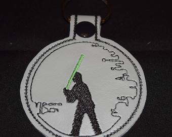 Luke Skywalker KeyChain, Snap Tab, Key Fob, Bag Tag, Embroidered,  Star Wars Luke Skywalker , Star Wars Gift