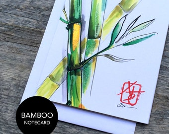Bamboo Notecard Set of 3 or 6