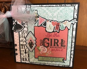 Be the Girl - Completed mini scrapbook album