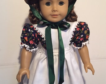 Laura Ingalls- Little House on the Prairie- American Girl Doll dress