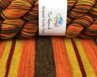 Serenity - Hand Dyed Self Striping Sock Yarn