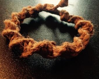 Thick hemp spiral bracelet/anklet