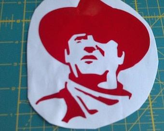 John Wayne Decal Sticker Car/Truck/Window/Laptop/Gun Safe/Tool Box