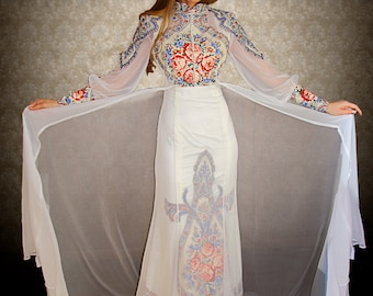 "Wedding dress in Russian style ""Princely"""