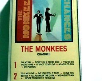 Monkees Changes Cassette Rhino RNC 70148 1986 davy jones tork nesmith dolenz