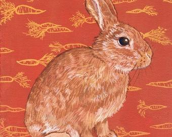 Carrot Rabbit (Print)