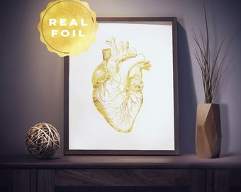 Heart Anatomy 4x6 - 5x7 - Anatomy Heart - Anatomy Art - Med Student Gift - Medical Art - Medical Office Decor - Medical Student Gift