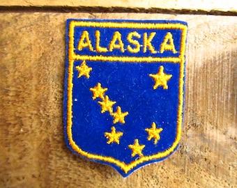 Vintage Alaska Patch - Alaska Souvenir Patch - Alaska Voyager Sampson's Badge Patch