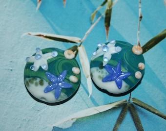 Lampwork beads, glass beads, artist beads, big beads, handmade glass beads, 20 mm