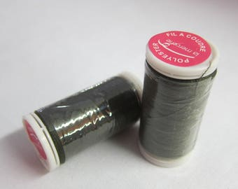 Thread green 100% polyester 200 m