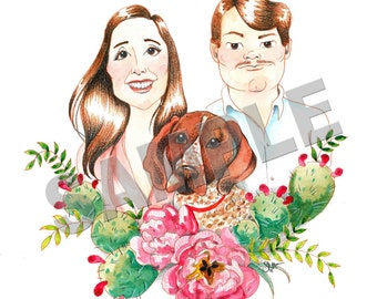 Custom Caricature Watercolor