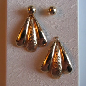 14k Gold JCM 2-in-1 Pairs Of Earrings 1.69g