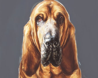 Bloodhound dog print -  Ltd. Ed. Fine art dog print - Bloodhound gift, bloodhound lover