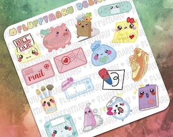 Daily Sticker Samplers    Planner Stickers, Cute Stickers for Erin Condren (ECLP), Filofax, Kikki K, Etc.    SS01