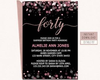 40th invitations Etsy