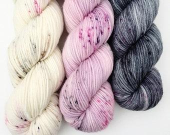 OBSESSION Kit  DK - Hand Dyed Yarn - Signature dk - Ready to Ship - Vivid Yarn Studio