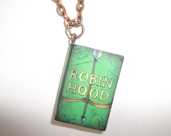 Storybook Necklace - Robin Hood - For Book Lovers