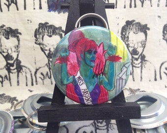 Miss Argentina from Beetlejuice original art bottle opener