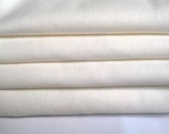 4 towels cotton and linen white 80 X 55 CM