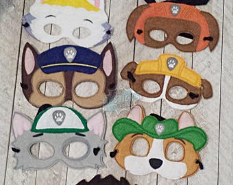 Paw Masks Puppy, Hero, *SAVE WITH SET* Working Dog, Patrol, Inspired Mask, Pretend Play, Imagination