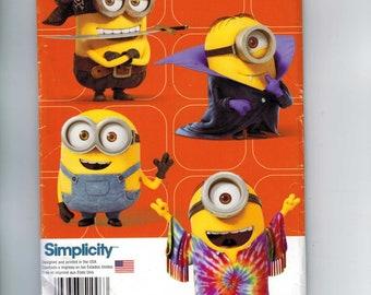 Kids Sewing Pattern Simplicity 1096 Kids Minion Halloween Costume Minions Size Small Medium Large Size 3 4 5 6 7 8 UNCUT