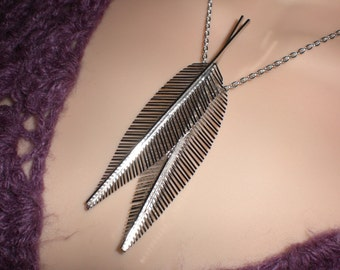 Silver Feathers Pendant