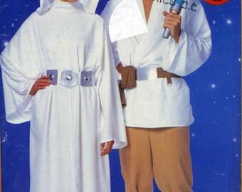 Star Wars Princess Leia Luke Skywalker costume Sewing pattern Out of print Butterick 5174 Adult mens womens CUT see description